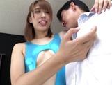 Matsuoka Seira naughty JP milf gives foot job and blowjob picture 12