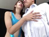 Matsuoka Seira naughty JP milf gives foot job and blowjob
