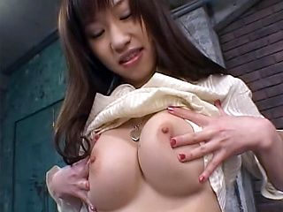 Hot flexible Japanese stunner gets anal and pussy penetration