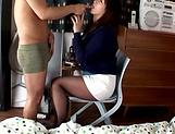 Big titted Asian babe Azumi Chino, sucks a big hard dick vigorously