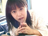 Skillful amateur teen Nana Nanaumi gives a cute treatment to cock picture 11