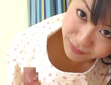 Skillful amateur teen Nana Nanaumi gives a cute treatment to cock picture 14