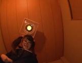 Sweet JP schoolgirl Airi Satou with glasses sucks a fat dick picture 12