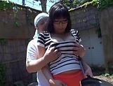 Sankihon Nozomi gets splashed with jizz