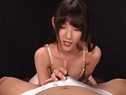 Sexy Kanako Iioka gets messy cum on mouth