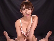 Otoha Nanase  enjoys giving kinky ball sucking