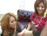 Innocent amateurs Risa Yuno and Kanede love dick picture 13
