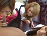 Innocent amateurs Risa Yuno and Kanede love dick picture 15