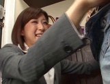 Ichika Kanhata naughty Japanese teacher sucks cock and gets cumshot picture 12