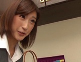 Ichika Kanhata naughty Japanese teacher sucks cock and gets cumshot