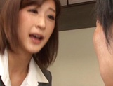 Ichika Kanhata naughty Japanese teacher sucks cock and gets cumshot picture 5
