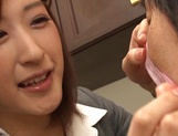 Ichika Kanhata naughty Japanese teacher sucks cock and gets cumshot picture 7