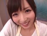 Gorgeous amateur JP MILF, Yuu Asakura gives a nice POV blowjob picture 14