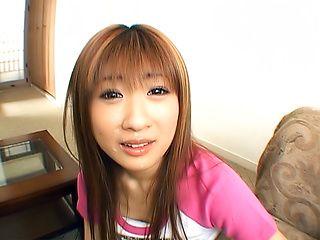 Superb POV blowjob by naughty Japanese chick Mio Ayase