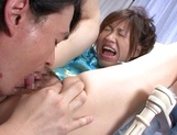 Sexy MILF Aya Hoshino gets licked and gives a handjob