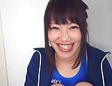 Amateur babe gives a Anna Kishi, hot tit fuck and blowjob