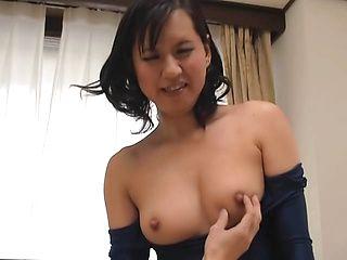Sweet Japanese wife enjoys kinky fucking