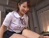 Attractive babe Osaki Mio sucks a stiff pole picture 15