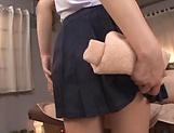 Attractive babe Osaki Mio sucks a stiff pole