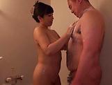 Nkihon Nozomi gives a long sensual cock sucking