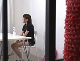 Ebina Rina showing her amazing blowjob skills picture 13