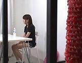 Ebina Rina showing her amazing blowjob skills picture 14