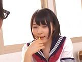 Ai Uehara and Karen Haruki sharing a huge cock picture 11