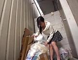 Alluring Asian babe seduced and gives blowjob