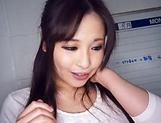 Kiriyama Anna sucks a large dong like a lollipop