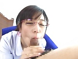 Sakura Chinami giving head like a true pornstar picture 13