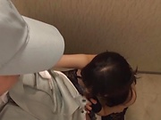 Cute Kanako IIoka sucks cock passionately