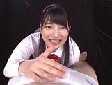 Ai Uehara and Karen Haruki blow a cock brilliantly picture 14