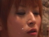 Amateur redhead Azusa Isshiki, provides an angelic blowjob