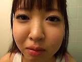 Hot Japanese teen Ai Makise gives a sizzling POV blowjob
