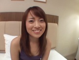 Sexy Asian babe sucks her hubby and eats sperm in pov