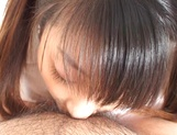 Young fresh Japanese teen gives a perfect cock sucking on pov