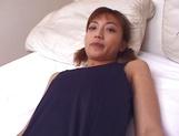 Asian babe,Misaki Kazama shows off in nasty pussy masturbation show picture 35