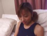 Asian babe,Misaki Kazama shows off in nasty pussy masturbation show picture 43