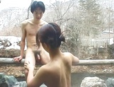 Mature Asian, Kayoko Uesugi, blows cock in superb outdoor porn session picture 13
