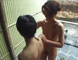 Mature Asian, Kayoko Uesugi, blows cock in superb outdoor porn session