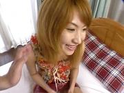 Amateur Asian teen, Kumi Sakura, pounded really hard