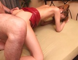 Skinny Asian, Kumi Sakura with tiny tits gets pantyhose  and pussy banged picture 140