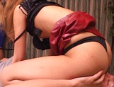 Skinny Asian, Kumi Sakura with tiny tits gets pantyhose  and pussy banged picture 59