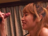 Skinny Asian, Kumi Sakura with tiny tits gets pantyhose  and pussy banged picture 95