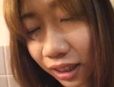 Sexy teen, Moe Otake, with hairy pussy and small tits rides cock in a toilet picture 23