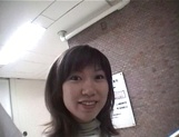 Mischievous Japnese teen, Riho Mishima, gives a blowjob in a toilet on pov picture 17