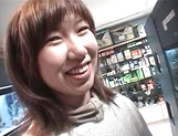 Mischievous Japnese teen, Riho Mishima, gives a blowjob in a toilet on pov picture 35