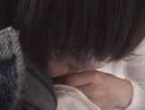 Mischievous Japnese teen, Riho Mishima, gives a blowjob in a toilet on pov picture 51