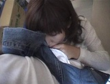 Mischievous Japnese teen, Riho Mishima, gives a blowjob in a toilet on pov picture 53