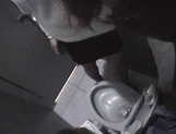 Mischievous Japnese teen, Riho Mishima, gives a blowjob in a toilet on pov picture 86